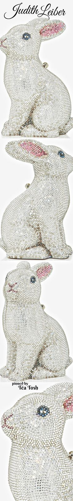 This **Judith Leiber** clutch is rendered in Austrian crystals and features a bunny silhouette and lambskin interior. Judith Leiber, Cute Bags, Spring Colors, Colorful Fashion, Evening Bags, Bling, Jewels, Purses, Holiday Bags