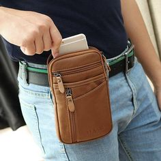 Genuine Leather Sling Bag Multi Pocket Phone Bag Portable Waist Bag For Men is hot-sale, many other cheap crossbody bags on sale for men are provided on NewChic Mobile. Cheap Crossbody Bags, Messenger Bag Men, Fashion Bags, Men Fashion, Bag Sale, Luggage Bags, Leather Men, Leather Handbags, Purses
