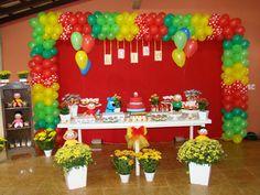 ANIVERSÁRIO LEGAL: Turma da Mônica Holidays And Events, Crafty, Kids Part, Ideas, Center Table, Mickey Mouse Birthday
