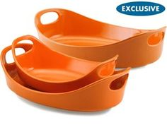 Rachael Ray Stoneware 3-pc. Bubble & Brown Baker Set: Orange at Rachael Ray Store