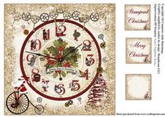 Steampunk 12 Days Of Christmas Card Topper