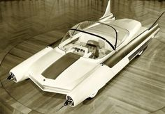 Car Concepts of Yesterday-The Ford FX Atmos was envisioned to be powered by nuclear power. This concept car had joysticks for steering