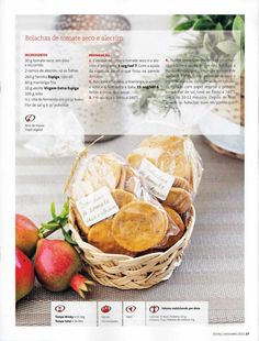 Revista bimby pt-s02-0012 - novembro 2011 Happy Foods, Special People, Food Gifts, Biscotti, Crackers, Special Gifts, Easy Meals, Cookies, Cake