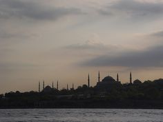 #Istanbul, #Turkey - Skyline of Old City, #Blue Mosque and #Hagia Sophia