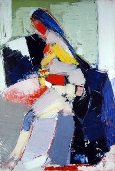 Nicolas de Staël - Artist XXè - Abstract Art - 'Portrait of Anne', 1953