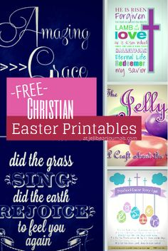 Free Christian Easter Printables  #printables #Easter| Jellibeanjournals.com