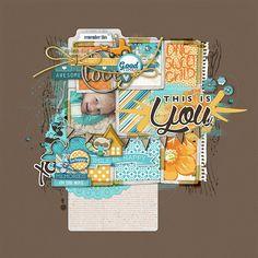 everyday capture scrapbook layout by Kayleigh Wiles #shopDesignerDigitals