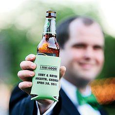 Personalized cozies wedding drinks wedding pictures wedding ideas festive favors cozies wedding favors