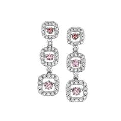 Stunning Pink and Clear Diamond earrings for the perfect wedding look by Suncrest Diamonds #suncrest