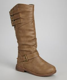 Look what I found on #zulily! Taupe Buckle Slouch Boot by Shoes of Soul #zulilyfinds