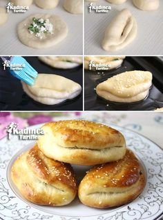 Turkish Kitchen, Savory Pastry, Baked Donuts, Breakfast Lunch Dinner, Turkish Recipes, Food Humor, Desert Recipes, Vegetable Recipes, Food And Drink