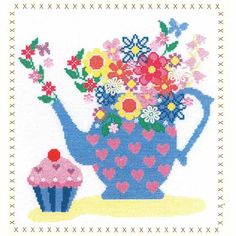 Teapot Bouquet by Bothy Threads