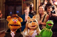 Kermit the Frog, Miss Piggy and Fozzie Bear – The Muppets.
