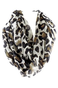 LEOPARD INFINITY Brown Gray Animal Print Scarf Shop Simply Me Boutique – Simply Me Boutique