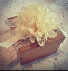 Rustic vintage diy wedding flower favor boxes or gift boxes