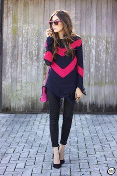 FashionCoolture - 17.06.2015 look du jour Displicent cozy sweater pink  (1)