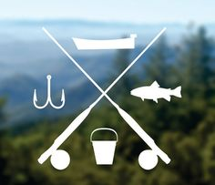FISHING Decal Adventure Sticker Camp Decal Car by Designs4evershop Phone Decals, Car Window Decals, Laptop Decal, Car Decals, Vinyl Decals, Kayak Stickers, Bumper Stickers, Life Sketch, Car Travel