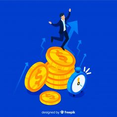 Modern productivity concept with isometric view , Gold Stock, Best Way To Study, Infographic Templates, Productivity, Design Elements, Banner, Vector Freepik, Nice, Make Money Online