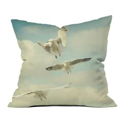 DENY Designs // Happee Monkee Seagulls Throw Pillow