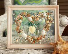Valentine's Day Decor, Valentine Gift for Beach Lover, Heart Decoration, seashell art on glass, Valentines Day Decor, Wedding Gift by SeaSideCreations1 on Etsy
