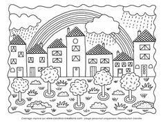 cocolico-creations: Mercredi Coloriage, Arc en ciel...