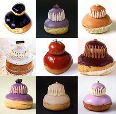 La maison Ladurée a commercialisé plusieurs religieuses avec des arômes qui changent de l'ordinaire : violette, caramel, rose, tomate, fleur d'oranger…
