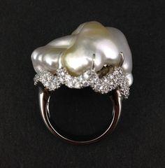 South Sea Australian Keshi Pearl Ring