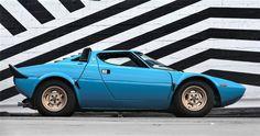 Such a pocket rocket of a car. 1975 Lancia Stratos HF Stradale