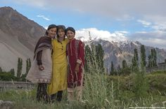 Girls in Gulmit Village in the Upper Hunza Valley north of the Attabad Lake, Hunza Vallay, PAKISTAN