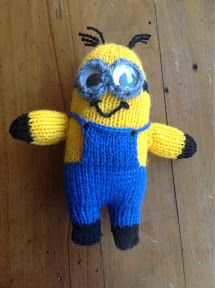 "At Home with the Lunchbox Guru: ""Despicable Me"" Minion Toy (2eyed) Knitting Patten"