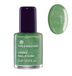 Yves Rocher Nail Polish - Sparkling Green - http://47beauty.com/nails/index.php/2016/10/05/yves-rocher-nail-polish-sparkling-green/ Yves Rocher Nail Polish – Sparkling Green  Say yes to the Winter 2014 trend with this new Nail Polish that offers immediate shimmering effect! Practical, its formula dries quickly and is easy to apply. Result: one coat is all it takes to create a fabulous effect. The Plus: a practical small format to bring everywhere. 0.10 fl.oz. / 3 ml Bot