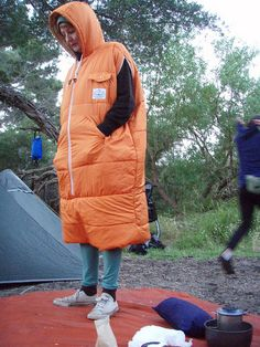 The Poler napsack… as modelled by K.Lansell. Don't go camping without one! | Flickr - Photo Sharing!