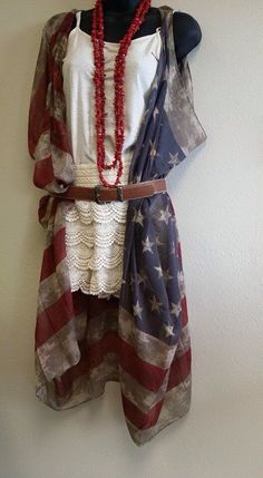 A personal favorite from my Etsy shop https://www.etsy.com/listing/451978952/american-flag-scarf-vest
