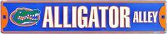 "Florida Gators ""Aligator Alley"" Metal Street Sign"