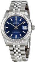 Rolex Datejust Blue Dial Automatic Stainless Steel Ladies Watch 178240BLSJ $5,481.00 #Rolex #Watches #Women Stainless Steel Rolex, Stainless Steel Bracelet, Casual Watches, Rolex Datejust, Automatic Watch, Chronograph, Rolex Watches, Bracelet Watch
