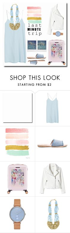 """Last minute trip"" by gul07 ❤ liked on Polyvore featuring MANGO, Ancient Greek Sandals, Ted Baker, Skagen, Urbiana and lastminutetrip"