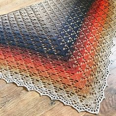 Crochet Shawl PDF Pattern Download Wild Ginger