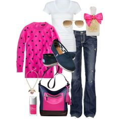 A fashion look from November 2012 featuring J.Crew sweaters, Active t-shirts and MEK jeans. Browse and shop related looks.