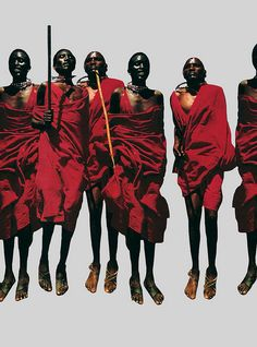 Massai warriors jumping during dancing in Kenya - Arian Behzadi