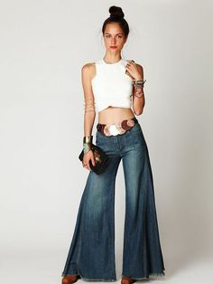 Free People High Waisted Vintage Extreme Flare Jeans Sz 25/2 Hippie NWT $148