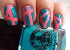 crazy abstract nails