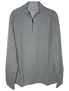 Tommy Bahama Mens 1//4 Zip Sweatshirt Ruby Red Reversible Cotton NEW