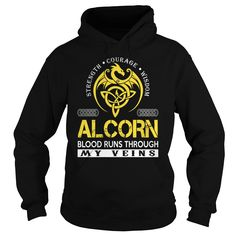 ALCORN Blood Runs Through My Veins - Last Name, Surname TShirts