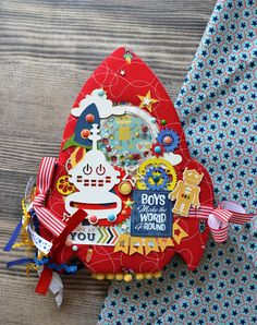сашунькины рукоделки: Миник-ракета!! Mini Scrapbook Albums, Mini Albums, Girls Album, Baby Album, Ideas Geniales, New Pins, Cute Kids, Christmas Ornaments, Holiday Decor