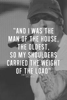 More Eminem Quotes Here Eminem Lyrics, Eminem Rap, Music Lyrics, Song Quotes, Music Quotes, Qoutes, Eminem Style, The Eminem Show, Eminem Photos