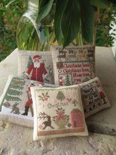 Love the Christmas-theme pincushions!