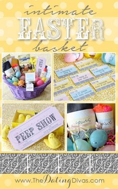 Intimate Easter Bakset! Oh my the hubby will LOVE this!!