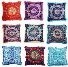 Set Of 5 Mandala Square Pillow Covers, 16x16 Ethnic Cushi... www.amazon.com/... http://itz-my.com