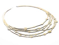 Iskin Victoria Necklace Threads - Leather - Contemporary Jewelry - Laser Cut - Victorian Silhouette Jewelry