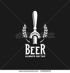 Beer always on tap advertising. Chalkboard design element for beer pub. Vector vintage illustration.